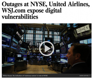 NYSE WSJ United hack
