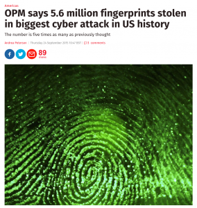 They've also stolen fingerprints.